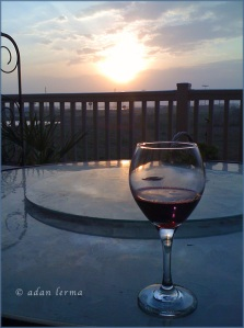 Wine Glass on Terrace