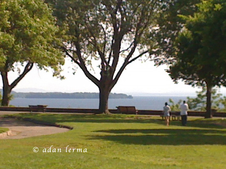 Battery Park View with Lake, Beginning of Summer