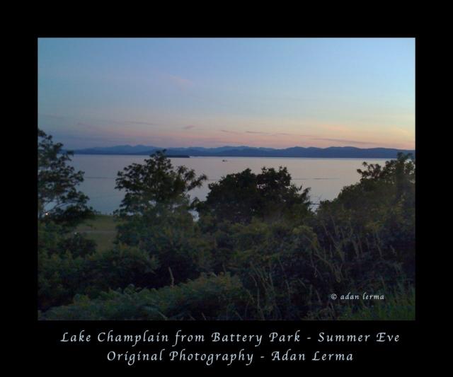 Summer Eve from Battery Park, Burlington Vermont