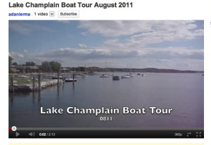 Lake Champlain Boat Tour August 2011 Video Still