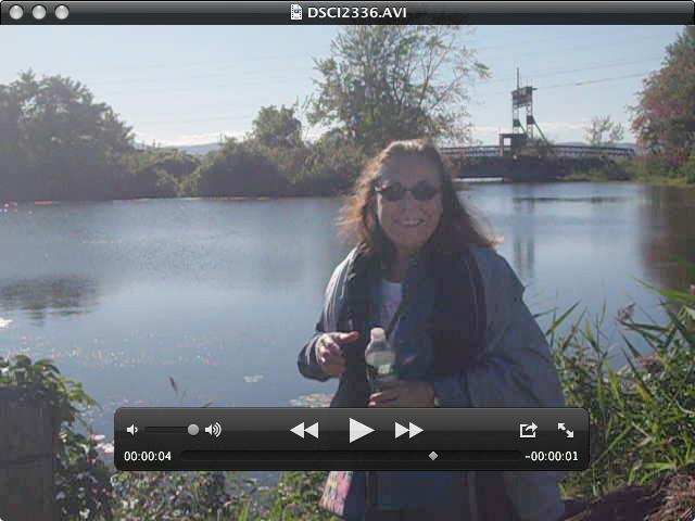 Sheila at Lake Champlain inlet near Art Hop 2011