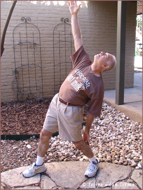 """Me (Adan) in 2010, just beginning to get back into yoga after """"many"""" decades 😊"""