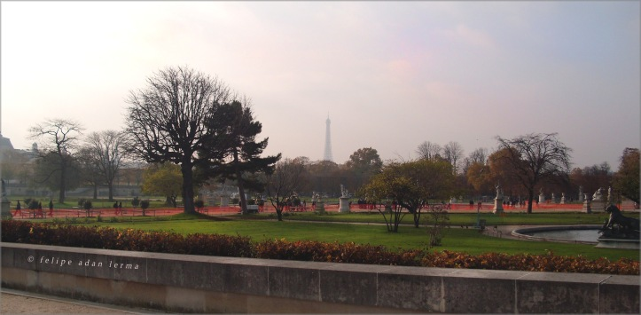 Eiffel Tower in Distance