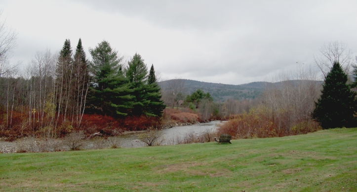 Little River Along Mountain Road in Stowe Area