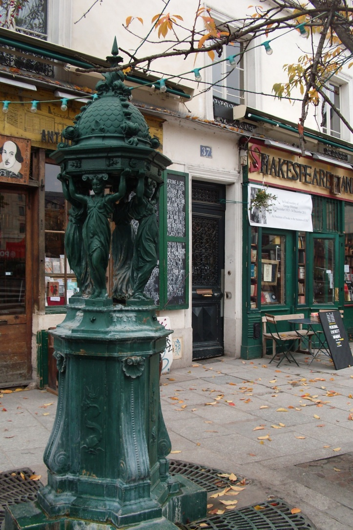 Sculpture Fronting Shakespeare and Company