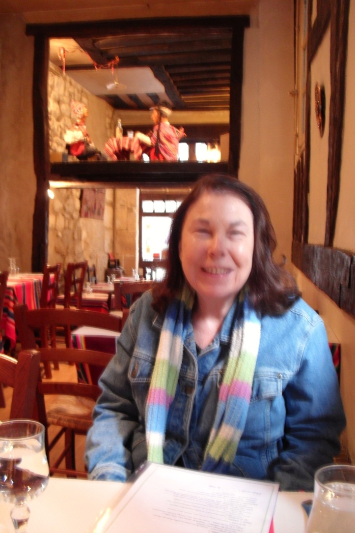 Sheila at Machu Picchu Restaurant, Paris