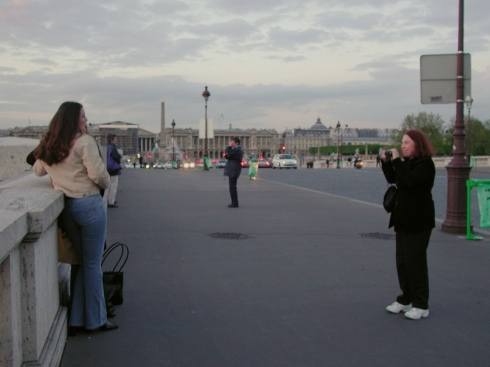 Sheila Taking Tourists' Pictures in Paris, circa 2002