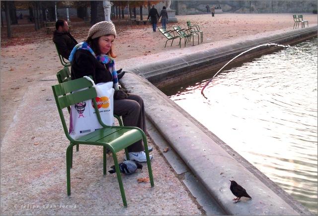 Sheila with Birds, Touleries, Paris