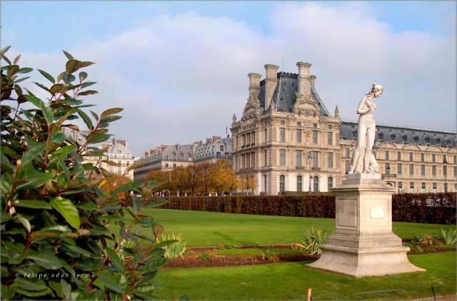 Standing Statue Near the Palace in the Tuileries