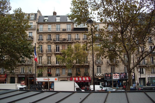 View from Starbucks, Paris, Blvd St Germain