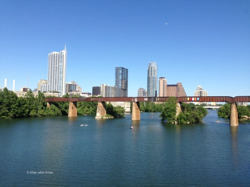 Austin Skyline and Railroad Bridge