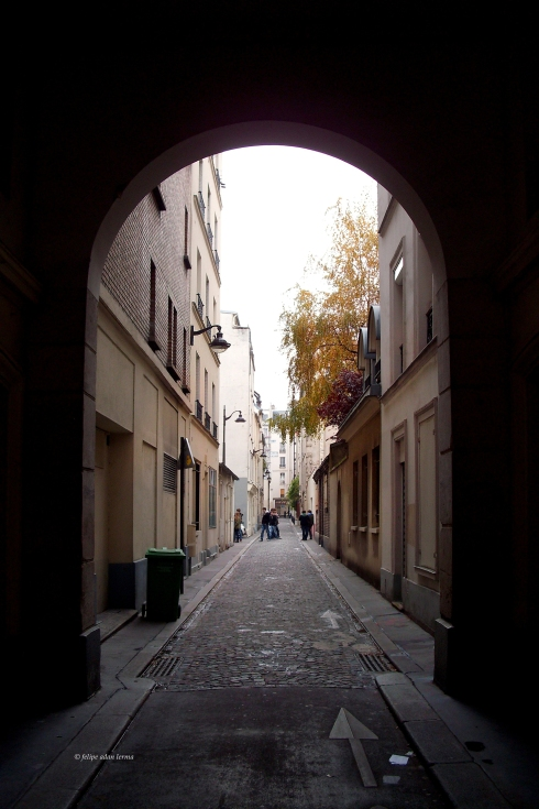 Archway on Small Street, Paris