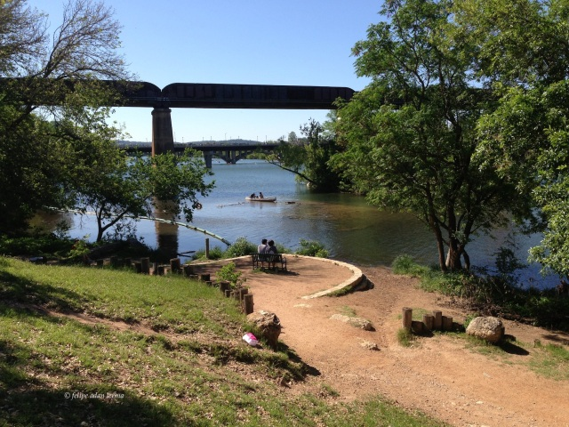 On the Bench, In the Canoe, By the River, Austin Texas