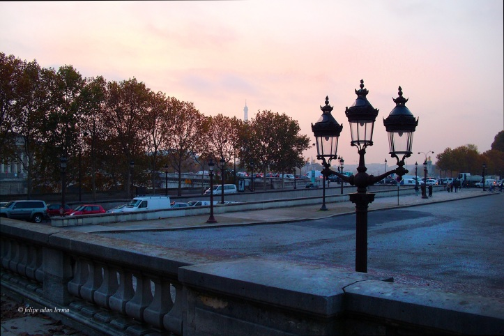 Eiffel Tower, Late Fall Sunset, Place de Concorde