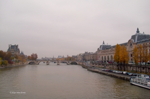 View of the Seine near the D'Orsay, Paris