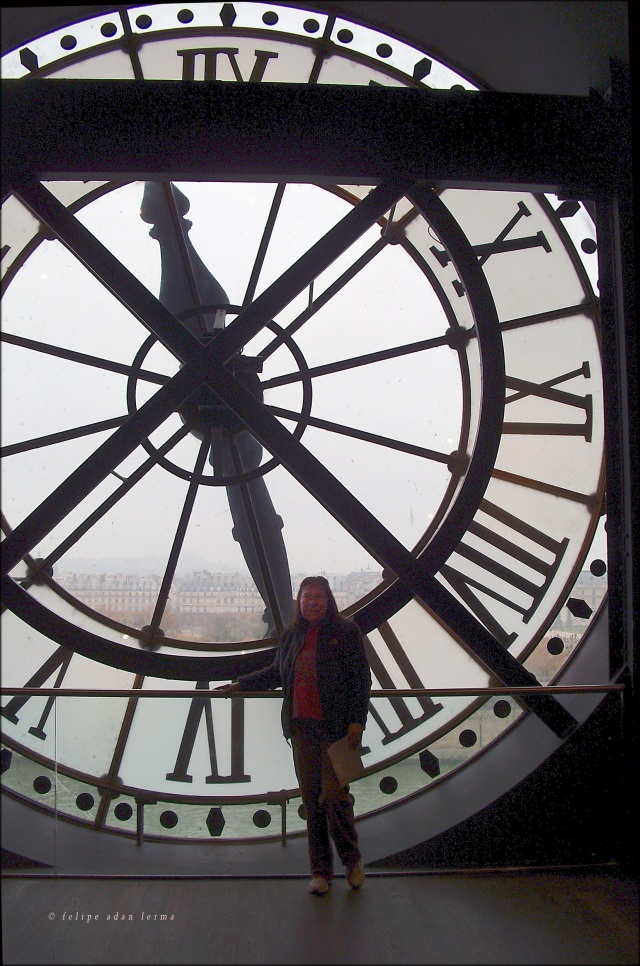 "Sheila at the Big Clock ""Horloge du Musée d'Orsay"""