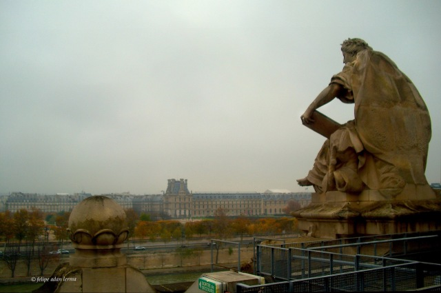 From Inside - Statue atop Musee d'Orsay