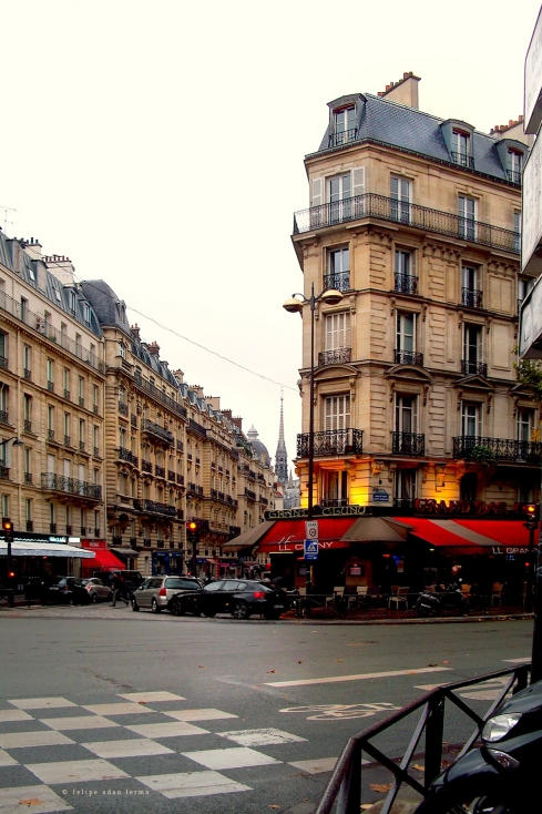 Steeples and Cafes, Paris