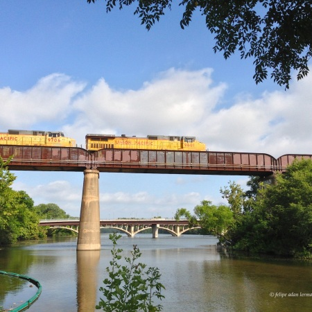 Train over Lady Bird Lake Austin Texas, Summer 2013 © Felipe Adan Lerma