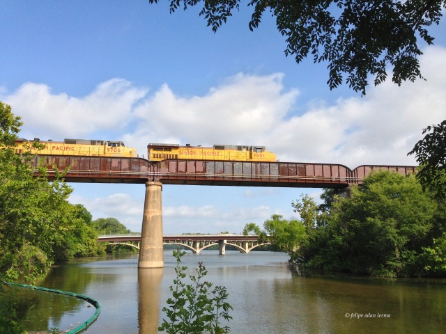 Train over Lady Bird Lake Austin Texas, Summer 2013 © Felipe Adan Lerma