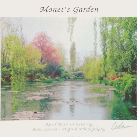 April Rain at Monet's Garden Poster - Photo and Design ©Felipe Adan Lerma https://felipeadan-lerma.pixels.com/featured/monets-garden-april-rain-in-giverny-felipe-adan-lerma.html