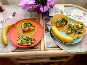 Breakfast taco dish plates