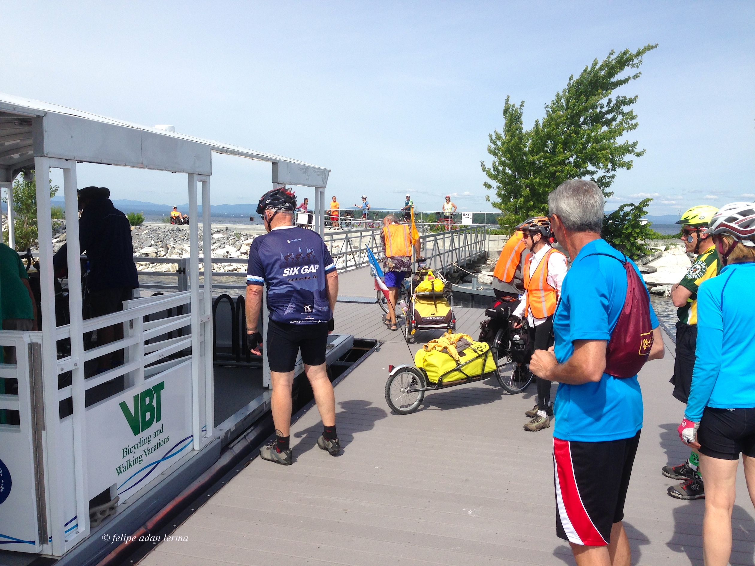 4 loading the bike ferry