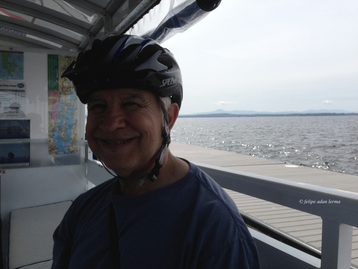 6 me, happy to have reached the bike ferry