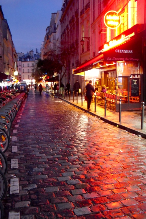Paris Nov rain night
