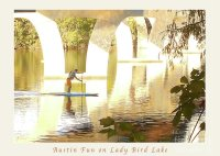 Austin Texas - Lady Bird Lake - Mid November Three - Greeting Card