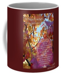 A Yoga Teacher Coffee Cup