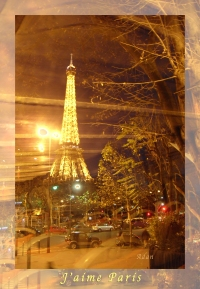 Eiffel Tower By Bus Tour Greeting Card Poster Print