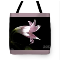 Lovely Lilies Bird In Flight Tote Bag