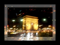 Arc de Triomphe by Bus Tour Greeting Card Poster v1 * @Felipe Adan Lerma - All Rights Reserved
