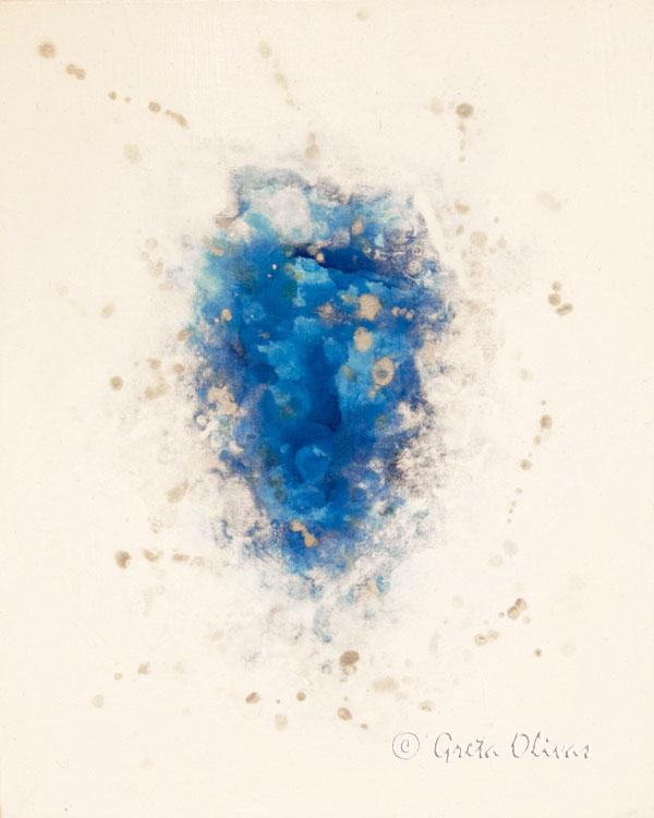 """Mindfulness"" 16″x20″ Acrylic on Canvas ©Greta Olivas"
