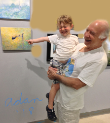 Self Portrait at Jerry's Artarama Veterans art show w/youngest grandchild ©Felipe Adan Lerma