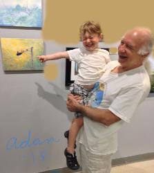 Self Portrait at Jerry's Artarama Veterans art show w/youngest grandchild ©Felipe Adan Lerma