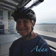 Felipe Adan Lerma on Island Line Bike Ferry crossing Lake Champlain Vermont.