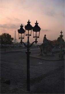 Three Lamps to the Eiffel Tower Paris ©Felipe Adan Lerma