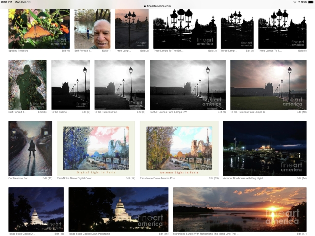 Adan's chronological posted images of photography and art at Fine Art America.