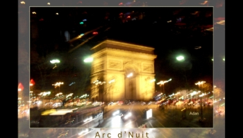Arc de Triomphe by Bus Tour © Felipe Adan Lerma https://fineartamerica.com/featured/arc-de-triomphe-by-bus-tour-greeting-card-poster-v1-felipe-adan-lerma.html