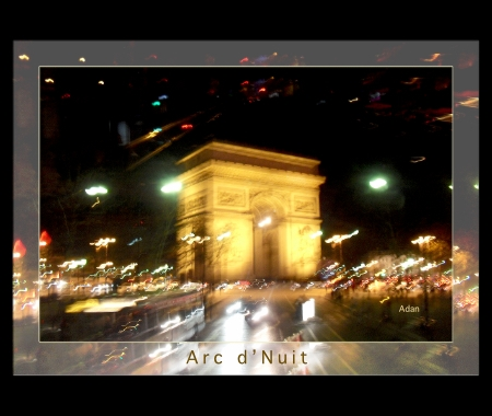 Arc de Triomphe Paris © Felipe Adan Lerma https://felipeadan-lerma.pixels.com/featured/arc-de-triomphe-by-bus-tour-greeting-card-poster-v1-felipe-adan-lerma.html