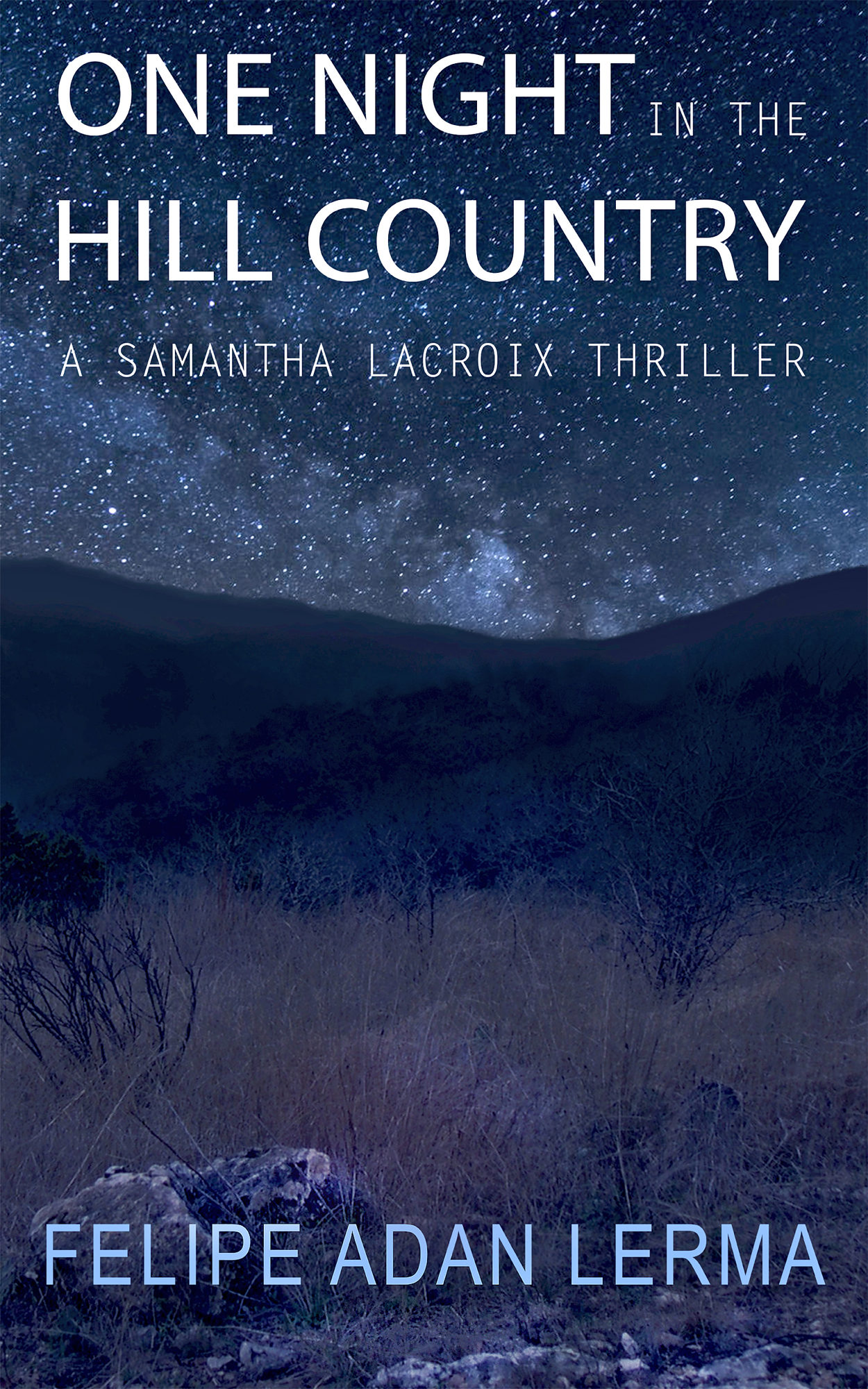 One Night the Hill Country, by Felipe Adan Lerma - multi-generational thriller set in Central Texas.
