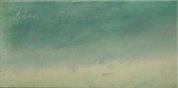 Solo Flight Blue Sky - original oil painting ©Felipe Adan Lerma