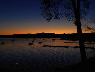 Nautical Sunrise Mount Mansfield From Malletts Bay ©Felipe Adan Lerma