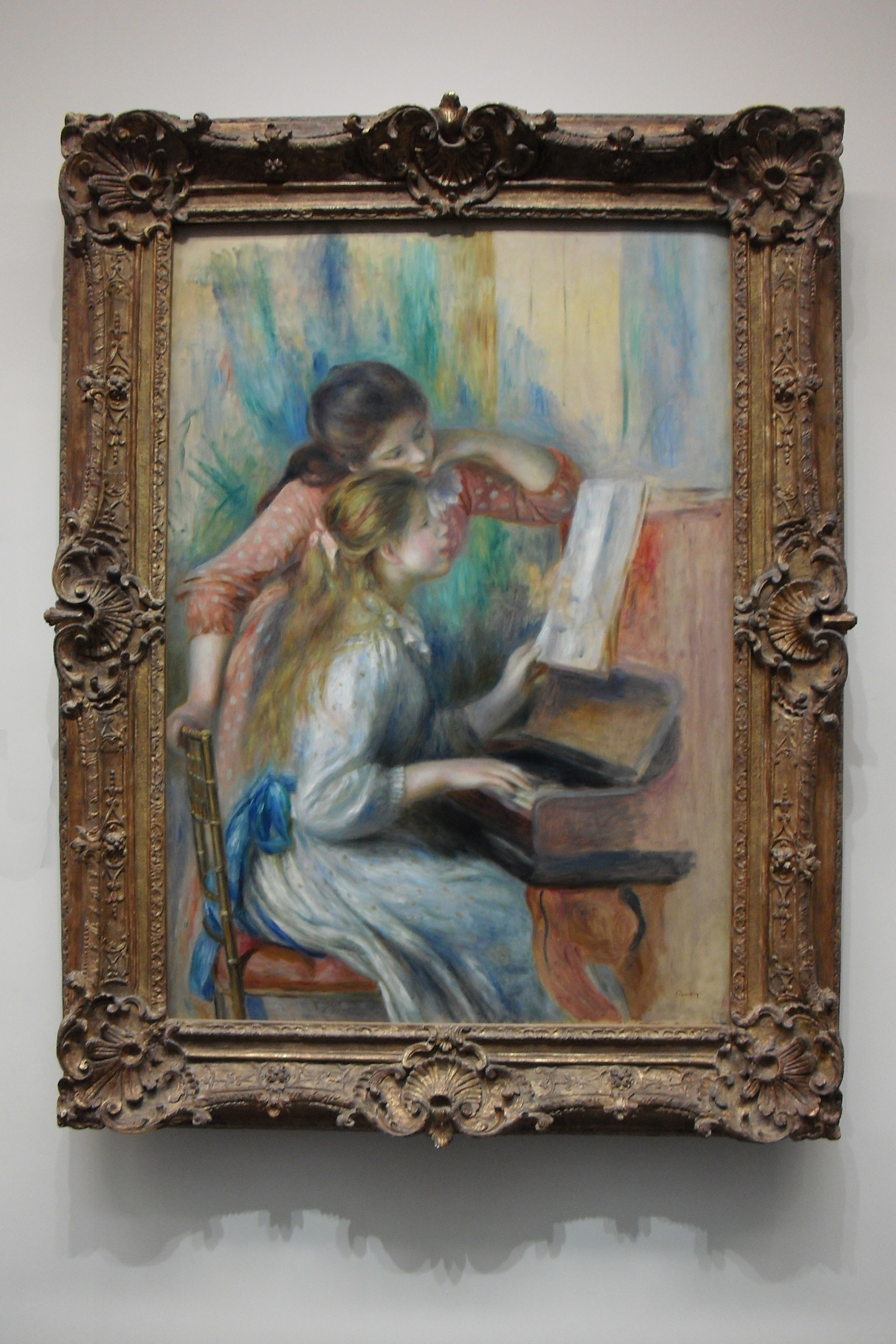 Girls at the Piano, Renoir, l'Orangerie, circa 1892
