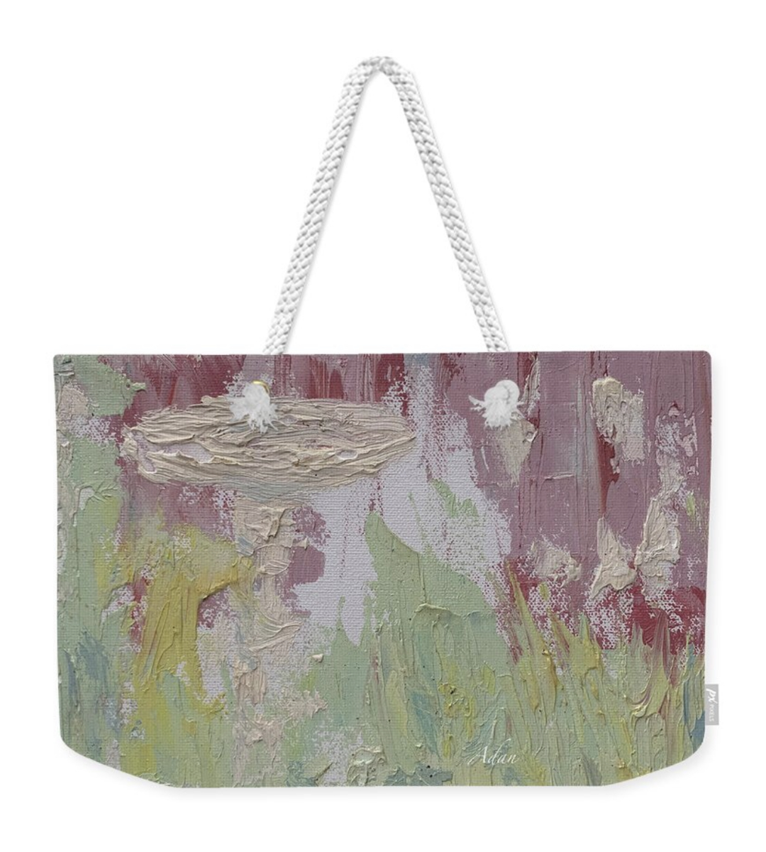 Weekender Tote Bag Image: The Bird Bath © Felipe Adan Lerma https://fineartamerica.com/featured/the-bird-bath-felipe-adan-lerma.html?product=weekender-totebag
