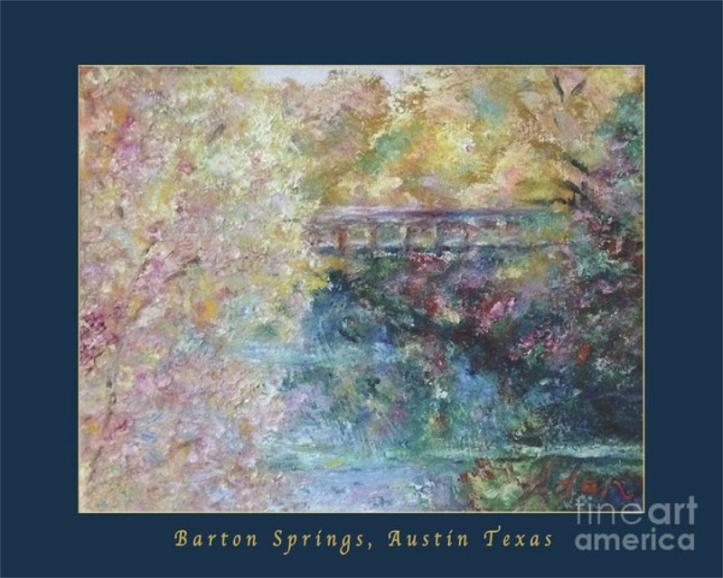 Autumn Colors Pedestrian Bridge Poster ©Felipe Adan Lerma - https://felipeadan-lerma.pixels.com/featured/birds-boaters-and-bridges-of-barton-springs-autumn-colors-pedestrian-bridge-greeting-card-poster-felipe-adan-lerma.html