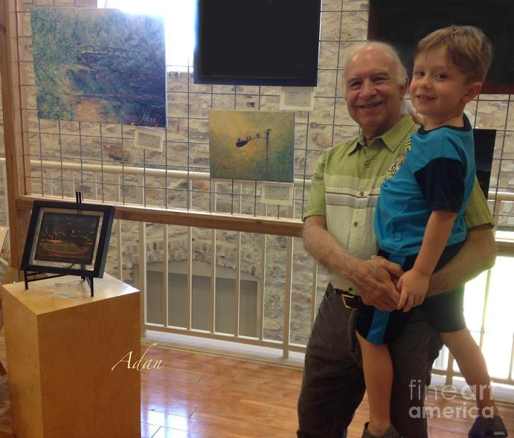 At Art Reception at Old Bakery & Emporiumm with youngest grandchild 😊  More of my bio-selfies are at - https://fineartamerica.com/profiles/felipeadan-lerma.html?tab=artworkgalleries&artworkgalleryid=746647 .
