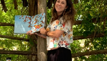 Our youngest girl, Tania Marie DeGregorio, reading her children's illustrated book - SkyDancer - at Lady Bird Johnson Wildflower Center Austin Texas 😊 On Amazon - https://amzn.to/2ZefzqB .